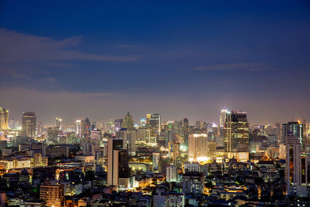 abstract london: Bangkok skyline at Night Lights, Thailand
