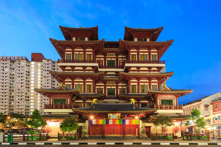 chinese temple: the Buddhas Relic Tooth Temple in Singapore Chinatown