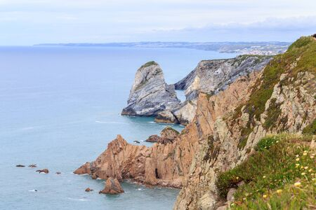 cabo: Cabo da Roca, the western point of Europe - Portugal Stock Photo