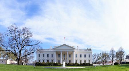 washington landscape: The White House - Washington DC, United States Stock Photo