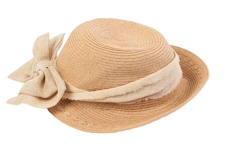 sun hat on the white background. photo