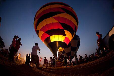 The balloon twilight scene in Thailand