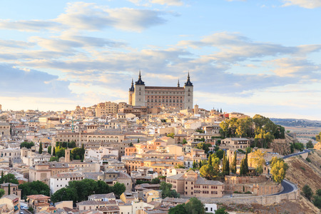 Toledo is capital of province of Toledo near Madrid, Spain. Stock Photo