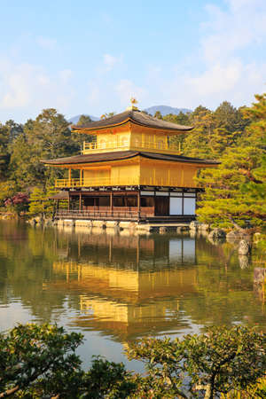Golden Pavilion is a Zen temple photo