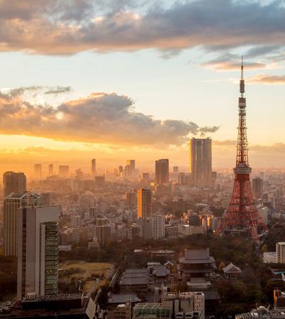 Sunset scene:Tokyo Tower in Tokyo, Japan.
