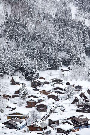 shirakawa go: Historic Village of Shirakawa-go in winter, Japan.