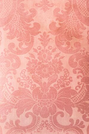 upholstered: texture vintage armchair, Pink leather background Stock Photo