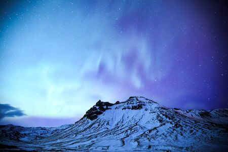 northern light: The Northern Light aurora over at snow Mountain Iceland