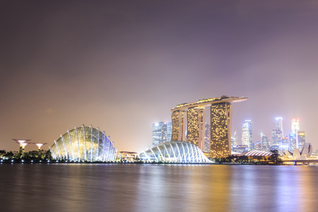 standalone: SINGAPORE - FEBRUARY 18: The Marina Bay Sands Resort Hotel on Feb 18, 2014 in Singapore . It is an integrated resort and the worlds most expensive standalone casino property at $8 billion.