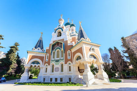 russian orthodox: Russian Orthodox Cathedral in Nice, France