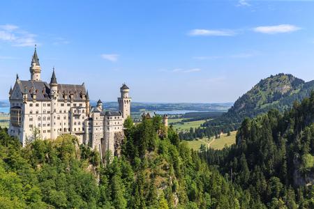 neuschwanstein: Neuschwanstein castle in Bavarian alps, Germany.