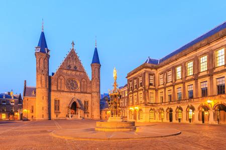 'the hague': Gothic facade of Ridderzaal in Binnenhof, Hague, Netherlands