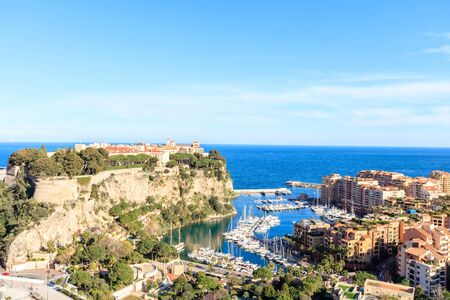 view of princes palace in Monte Carlo in a summer day, Monaco Stock Photo