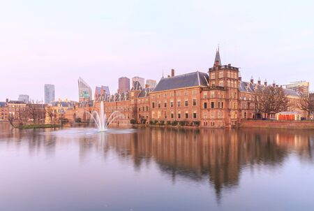 the hague: Binnenhof Palace in The Hague (Den Haag) at sunset, Netherlands