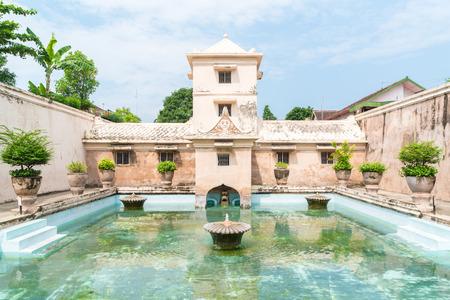 Palacio del agua de Taman Sari de Yogyakarta en la isla de Java, Indonesia. Foto de archivo - 70058693