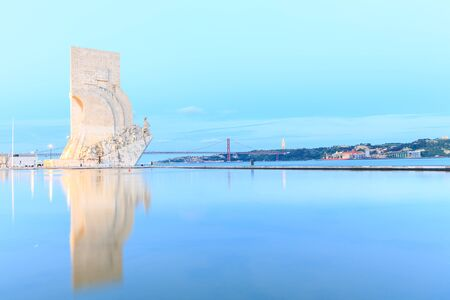 jesus standing: Monument to the Discoveries, Lisbon, Portugal, Europe