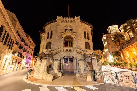 The palace of Justice in Monte Carlo, Monaco Editorial