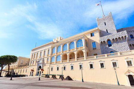 view of the facade of the Princes Palace of Monaco in Monaco-Ville, Monaco Stock Photo