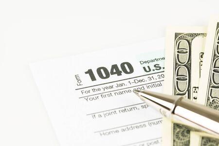 U.S. Tax form business financial concept.