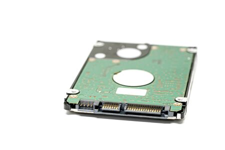 Hard disk drive isolated on a white background. HDD Stok Fotoğraf
