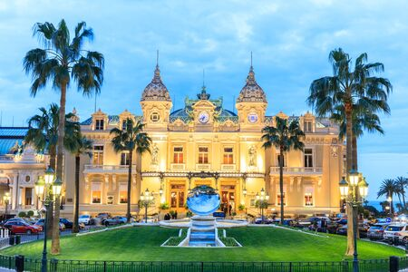 MONTE CARLO, MONACO - March 12: People gathering in front of the world famous Casino of Monte Carlo. Monte Carlo, Monaco on March 12, 2016 Editöryel