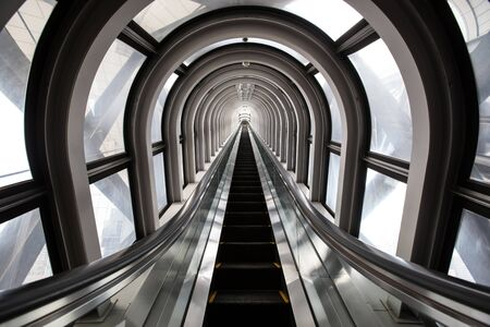 escalator ,abstract space in a modern building