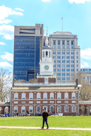 historic Independence Hall National Park in Philadelphia 報道画像