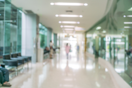 Abstract blur of beautiful luxury hospital and clinic interior for background 写真素材