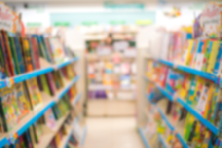 Abstract blur of library book store and book shop for background 写真素材