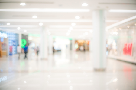 Abstract blur of beautiful luxury shopping mall and retails store interior for background
