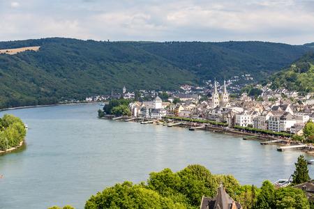 famous popular Wine Village of Boppard at Rhine River,middle Rhine Valley,Germany Reklamní fotografie
