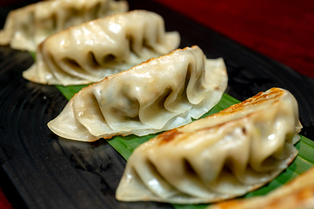 Close up fresh boiled dumplings.Image of  Chinese food 写真素材