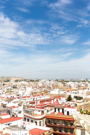Aerial view of the spanish city sevilla, Spain. 版權商用圖片