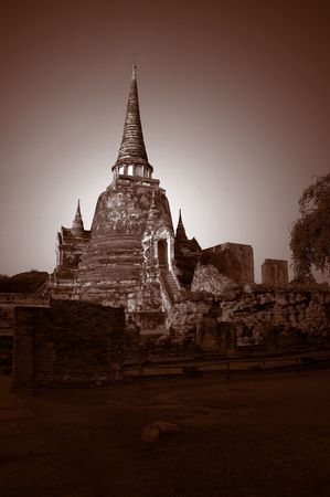 Wat Phra Sri Sanphet in Ayutthaya, Thailand photo