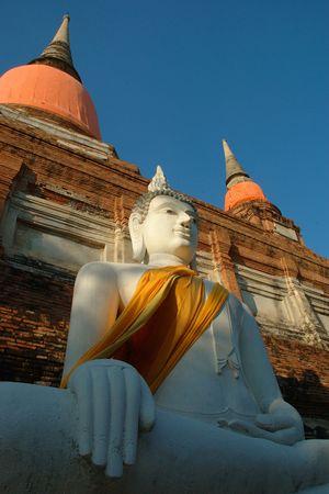 chai: Buddha found at Wat Yai Chai Mongkol, Ayutthaya, Thailand