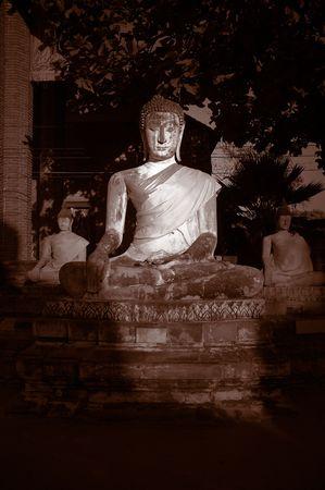yai: Buddha trovato a Wat Yai Chai Mongkol, Ayutthaya, Tailandia