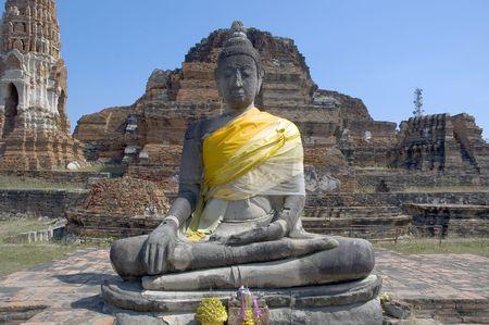 nirvana: Buddha at Wat Maha That, Ayutthaya (Thailand) Stock Photo