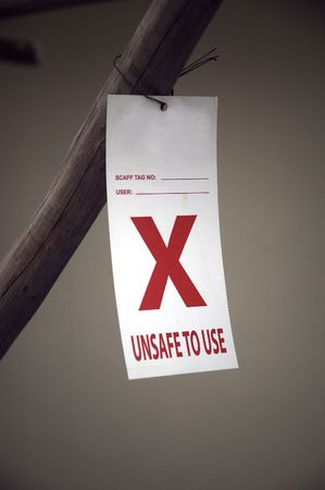 unsafe: Unsafe to Use Notice Stock Photo