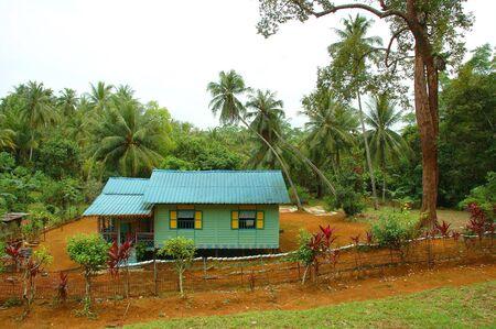 malay village: Attap casa en Pulau Ubin, Singapur
