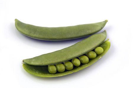 half open: Snow Peas Half Open