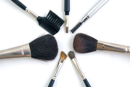 beautify: Brushes for Make Up Stock Photo