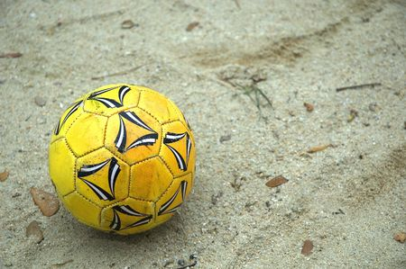 Soccer Ball at the Beach Stock Photo - 417381
