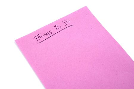 things to do: Things to do List Stock Photo