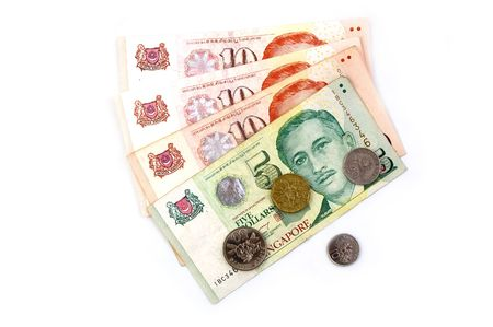 Singapore Dollars and Coins photo
