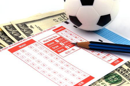 punt: Football Betting Slip with US Dollars
