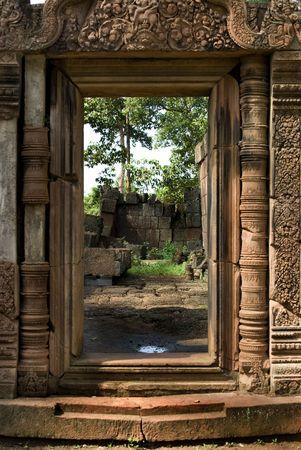 angkor: Stone Entrance in Angkor Temple