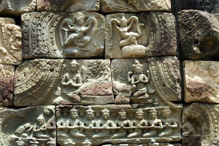 apsara: Apsara Carving in Angkor Temple