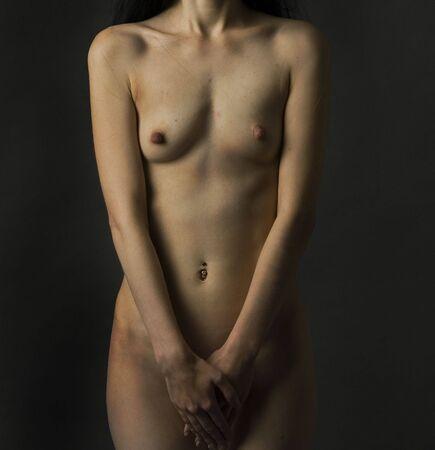 half nude: Nude Body of a Woman