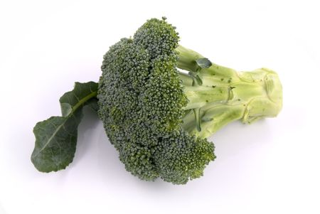 entire: Entire Green Broccoli Vegetable with Stem