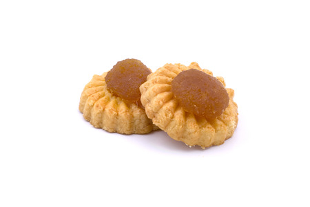 chinese new year food: chinese pineapple tart cookie or biscuit for chinese new year